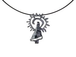 Colgante Virgen del Pilar en Plata. Modelo Fusión. Pequeño